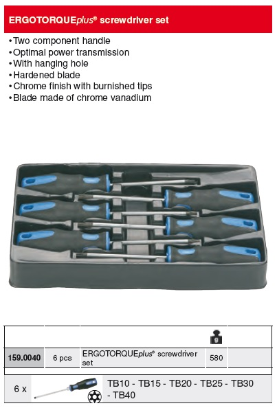 10mm KS Tools 159.1208  ERGOTORQUEplus socket screwdriver